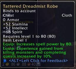Tattered Dreadmist Robe